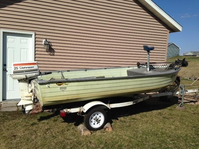 ? '79 Mirrocraft Boat w/trailer 25 HP Johnson Motor ?