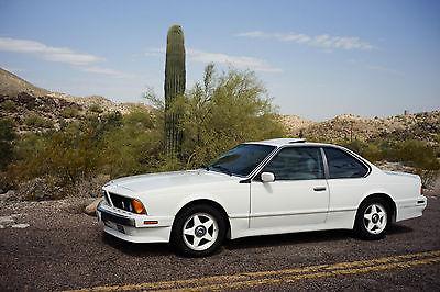 BMW : 6-Series CSI 1989 bmw 635 csi automatic transmission 6 series alpine white lotus white int