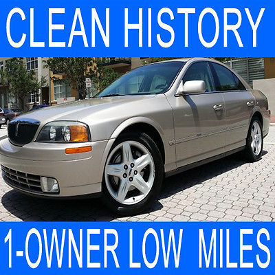 Lincoln : LS 1-Owner LOW MILES LS V8 CLEAN HISTORY One Owner LOW MILES 57k Leather Seat ALLOY RIMS Wood Trim