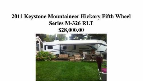 2011 Keystone Mountaineer Hickory Series m-326 RLT
