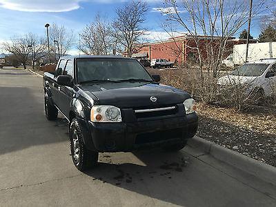 Nissan : Frontier XE 2004 black nissan frontier xe 4 door crew cab extended truck bed w liner sweet