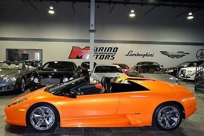 Lamborghini : Murcielago Roadster 2005 lamborghini murcielago roadster arancio atlas 3 k miles