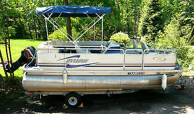 2000 18 Ft. Sylvan Pontoon 50 HP Mercury and Trailer