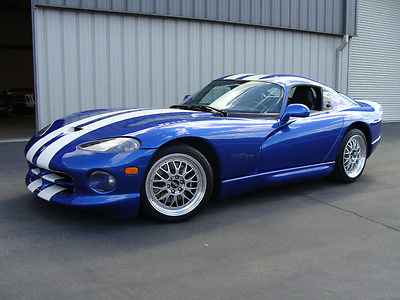 Dodge : Viper MINT VIPER GTS, MODS! 1997 dodge viper gts classic blue white low miles mint in and out upgrades