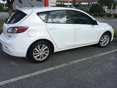 Mazda : Mazda3 iTouring Hatchback 2012 white mazda 3 itouring hatchback low miles