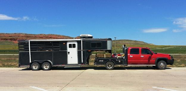 Adam LQ 3 horse trailer