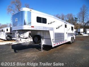 New Horse Trailer - 2015 Platinum Coach 2 1 GN Straight Load with Box Stalls