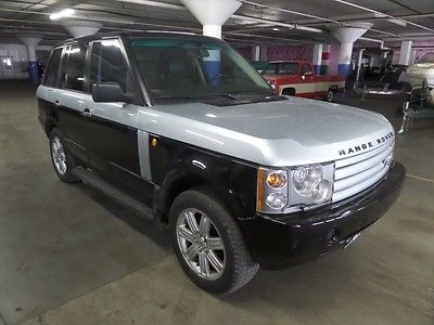 Land Rover : Range Rover HSE 2003 range rover hse luxury suv 4 x 4 v 8 custom leather 4.4 l automatic black