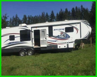 2013 Keystone Avalanche 320RK 32' Fifth Wheel 2 Slide Outs TV DVD WASHINGTON ST