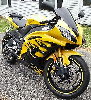 2008 yamaha r6 yellow motorcycles for sale. Black Bedroom Furniture Sets. Home Design Ideas