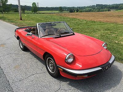 Alfa Romeo : Spider Graduate 1985 alfa romeo spider graduate