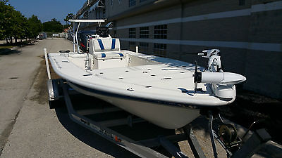 1999 EAGLE FLATS BOAT WITH 2000 YAMAHA 150 HPDI LOW HOURS