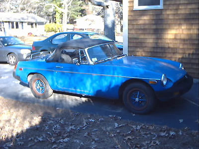 MG : MGB B 1977 mgb w 4 spd overdrive transmission