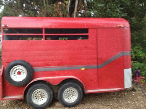 Three horse trailer.