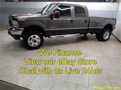 Ford : F-350 Lariat 4WD Dually 02 f 350 lariat 4 x 4 7.3 diesel dually leather 19.5 alcoa wheels we finance texas