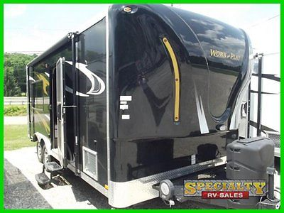 2015 Work And Play Small Travel Trailer Toy Hauler 18EC New Black