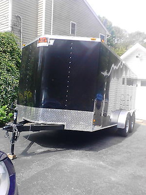 7x16 enclosed Hallmark trailer