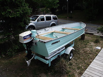 STARCRAFT ALUMINUM BOAT,1969,69TEE NEE TRAILER,5.5HP OUTBOARD AND TROLLING MOTOR