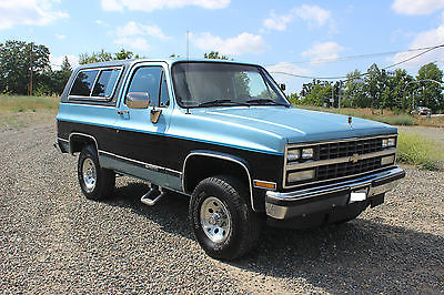 Chevrolet : Blazer Silverado Sport Utility 2-Door 1990 chevrolet k 5 blazer silverado 2 door 5.7 l 4 x 4 oem one owner