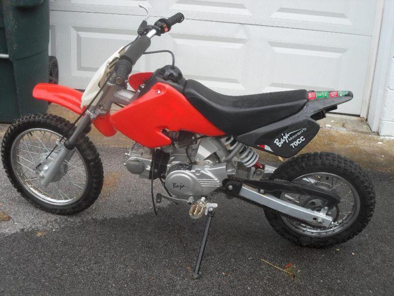 70 cc baja motorcycle