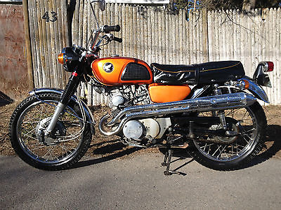 Honda : CL 1968 honda scrambler cl 175 12 kmi all origial cl 175 and honda cb 550 four