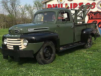 Ford : Other Pickups F3 1950 ford f 3 pickup flathead v 8 tow truck boom pto winch solid runs great