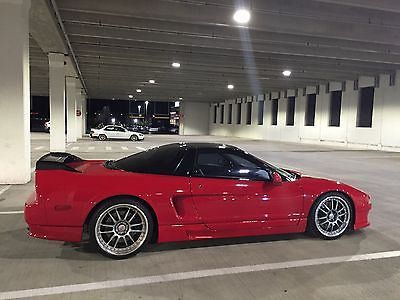 Acura : NSX Base Coupe 2-Door 1992 acura nsx red with black top 5 speed