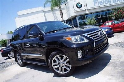 Lexus : LX 570-ONYX BLACK-BLACK LEATHER-LOADED- 2014 lexus lx 570 black black one owner clean carfax nav rear entertainment