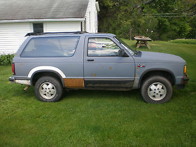 Chevrolet : Blazer Base Sport Utility 2-Door 1989 chevrolet s 10 blazer base sport utility 2 door 2.8 l 5 speed inspected