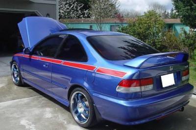 2000 Honda Civic Si with factory spoiler