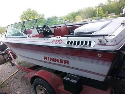 1987 Rinker V170 open bow fish ski boat