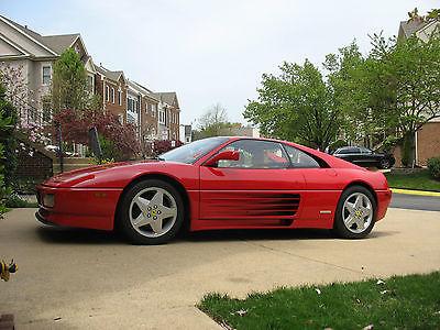 Ferrari : 348 TB 1991 red 348 tb 42 370 mi engine out service 40 214 mi new clutch exhaust a c