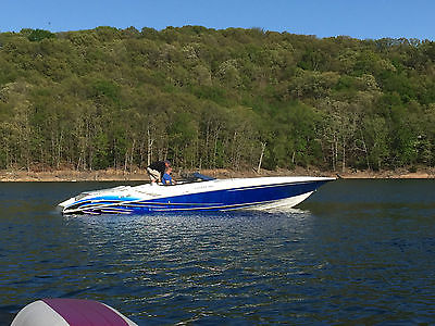 Fountain, boat, trailer included, blue, power boats