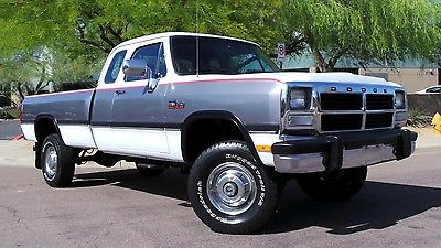 Dodge : Ram 2500 LE 1993 dodge ram 250 cummins turbo diesel club cab 4 x 4 le option group rare cd