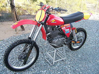 Honda : XR Super Rare C&J XR500R Vintage MX MotoCross OHLINS SUN rims RESTORED and NICE!!