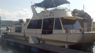 1987 Holiday Mansion Coastal Commander 490 Houseboat 49.3ft, Twin 454s, Updates!