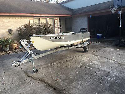 14' Aluminum Outboard 5 HP Motor Fishing Boat w/ Trailer - $1500 (Humble, TX)