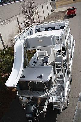 Special---New triple tube  25 ft pontoon boat with slide- hpp tubes