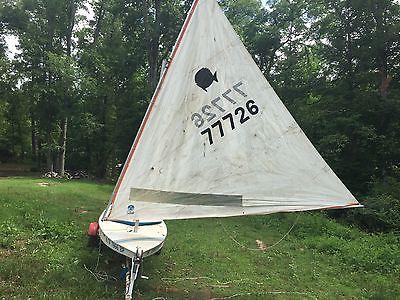 1974 Sunfish sailboat 14'