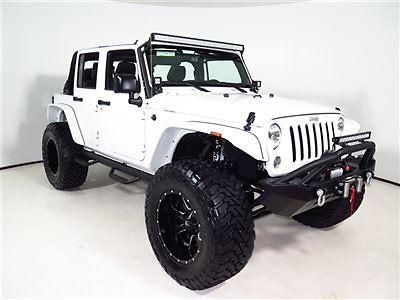 Jeep : Wrangler Sport 2015 wrangler unlimited custom everything lifted custom white fox shocks 14