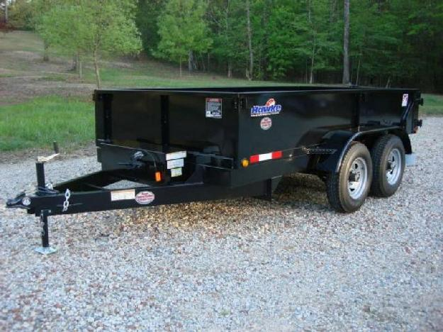 6ft X 12ft Hawke Dump Trailer 5 Ton, 20 amp quot Tall Sides, Power Up amp amp Down