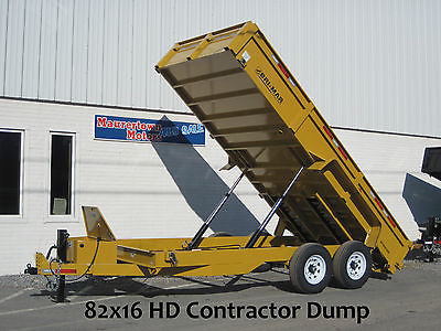 Special Price! '15 New Bri-Mar 7x16 Dump Trailer 14k Commercial Series DT716LPHD