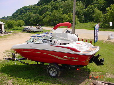 2014 Bryant 198W Walkabout Red Mercury 4.3 Runabout w/ trailer