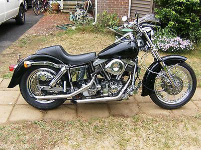 Harley-Davidson : Other harley shovelhead fxe vintage 81 nr other low black like flh lowrider superglide
