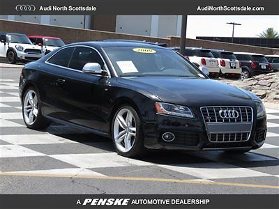 Audi : S5 V8 QUATTRO NAVIGATION 70117 miles navi black heated leather awd bluetooth camera coupe car fax s 5
