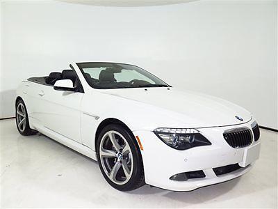BMW : 6-Series 650i 2010 650 i conv 54 k miles sport premium pkg heads up display parking sensors 11