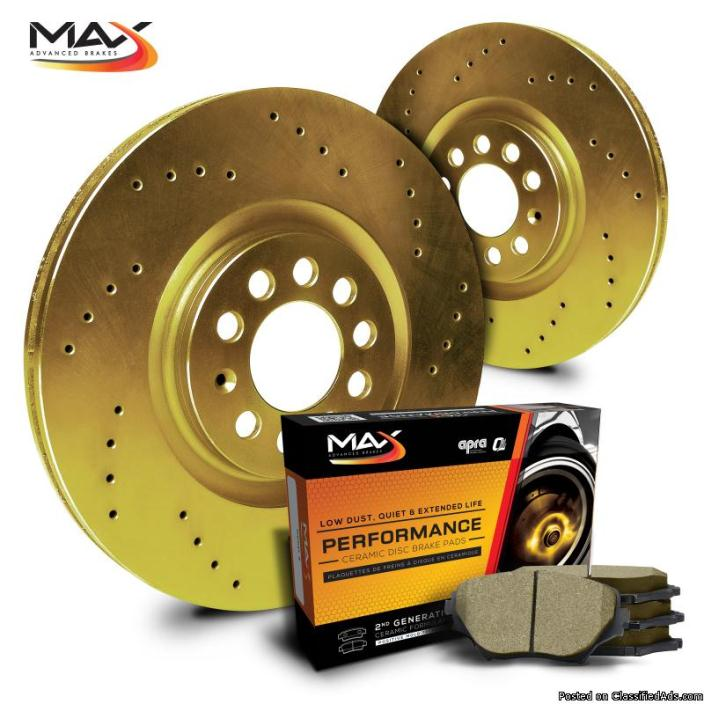 Car Brakes For All Models: OE/Slotted/Cross Drilled + Free Pads & Shipping