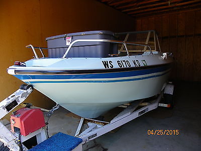 1976 18' Larson w/ 165hp Mercruiser In/Outboard & Dilly Trailer