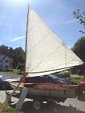 Classic Wood Swifty 12 Sailboat Designed by Shell Boats