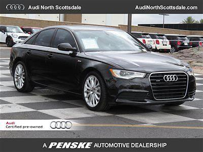 Audi : A6 NAVIGATION QUATTRO SPORT CERTIFIED WARRANTY 38649 miles black awd navi black heated leather bluetooth camera cpo sport 3.0